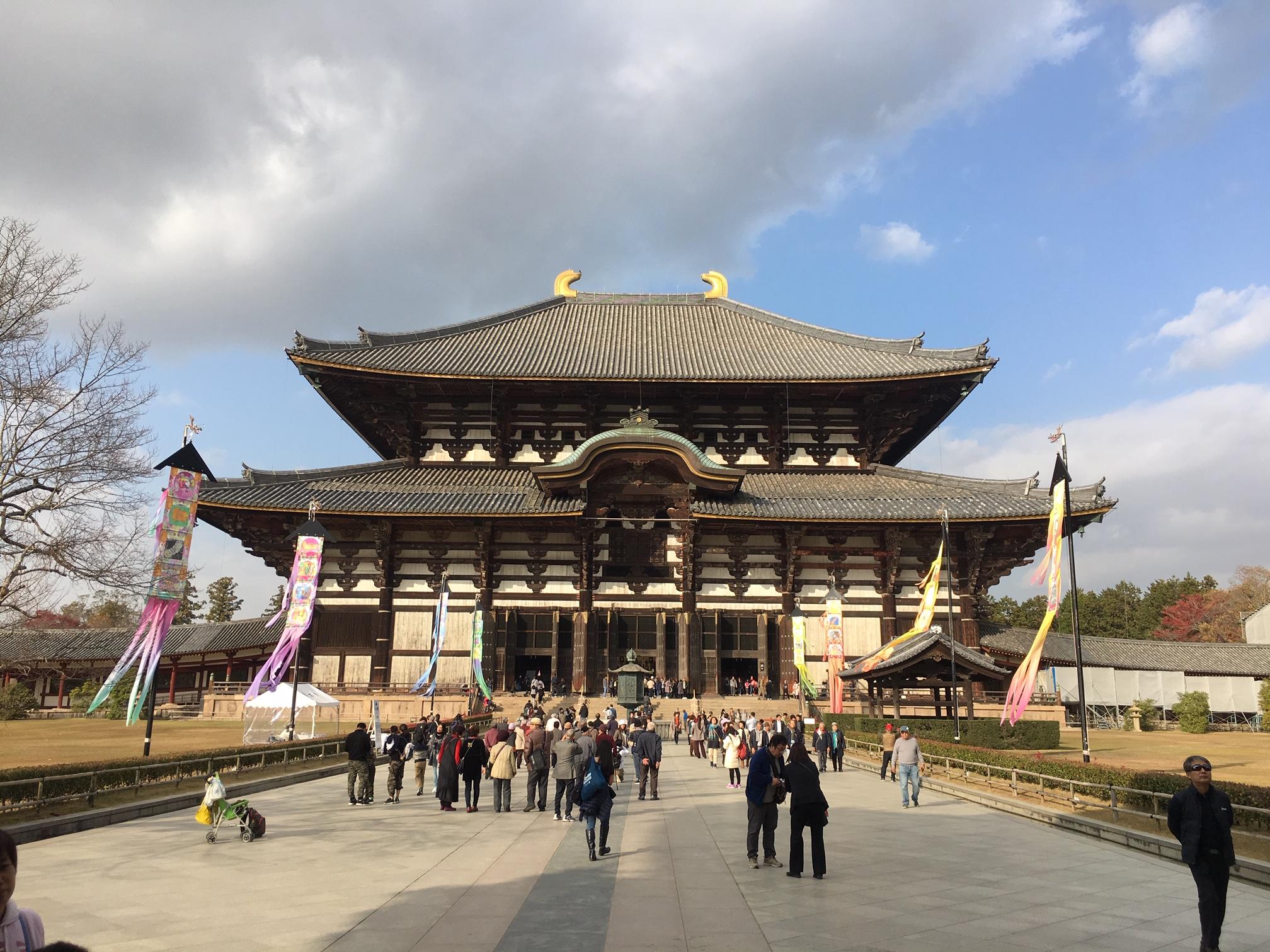 過去大仏殿前実施風景